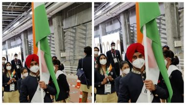 Team India Gears Up For Opening Ceremony Ahead of Tokyo Olympics 2020 (See Pics)