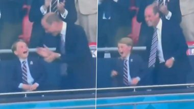 Here's How Prince George Reacted to England's Goal During Euro 2020 Final vs Italy (Watch Video)