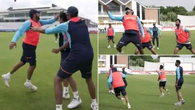 Team India Engage in Fun Drill Session Ahead of Tests vs England (Watch Video)