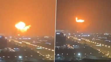 Dubai Ship Blast: Fire Erupts on Container Ship at Jabal Ali Port, Causes Explosion That Rocks the Commercial Hub of UAE (Watch Video)