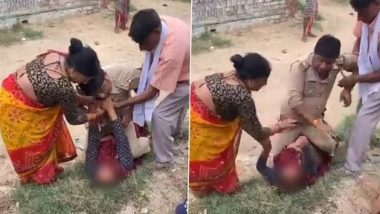 Uttar Pradesh Police Official Accused of Sitting on Woman and Hitting Her in Kanpur, Photo Goes Viral