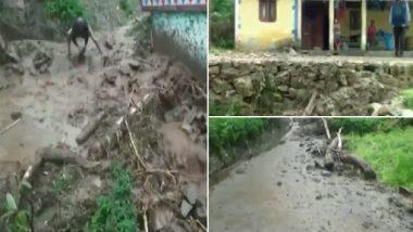 Uttarakhand Cloudburst: Rubble Enters Some Houses in Med Village of Bal Ganga in Tehri Garhwal (Watch Video)