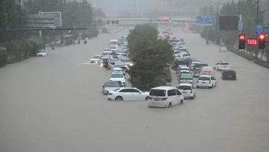 China Floods: Heavy Rainfall Leads to Flooding in Central China, Subways Inundated in Zhengzhou City