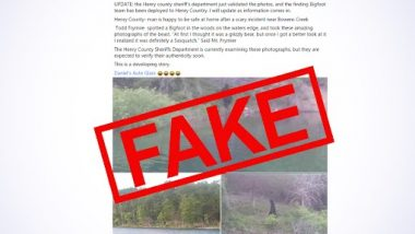 Bigfoot Spotted in Henry County in the US? Old Photo of the Ape-Like Creature Walking in the Woods Shared With Fake Claim