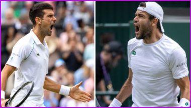 Novak Djokovic vs Matteo Berrettini, Wimbledon 2021 Live Streaming Online: How to Watch Free Live Telecast of Men's Singles Final Tennis Match in India?