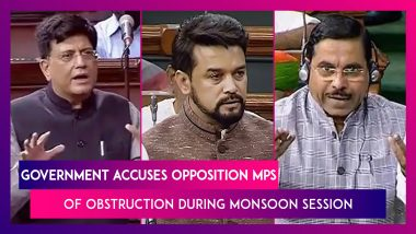 Piyush Goyal, Other Ministers Accuse Opposition MPs Of Obstruction During Monsoon Session