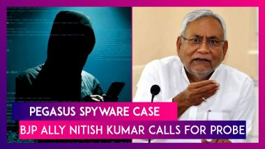 Nitish Kumar Calls For Probe In Pegasus Spyware Case, JDU First BJP Ally To Do So