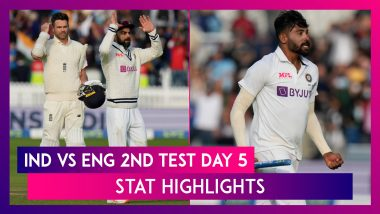 IND vs ENG Stat Highlights 2nd Test Day 5: Bowlers Help India Win Lord's Test