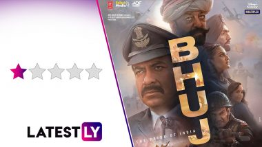 Bhuj - The Pride of India Movie Review: Ajay Devgn's War Drama Is Cacophony of Loud Jingoism, Bad Editing and Direction (LatestLY Exclusive)