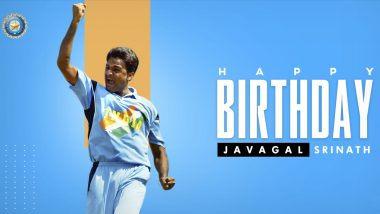 Javagal Srinath Birthday: BCCI Tweets Special Wish for Former Indian Cricketer