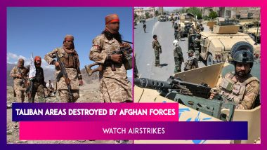 Taliban Areas Destroyed By Afghan Forces, Watch Airstrikes
