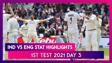 IND vs ENG Stat Highlights 1st Test 2021 Day 3: Ageless James Anderson Rattles Indian Batting Lineup