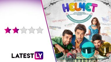 Helmet Movie Review: Aparshakti Khurana and Pranutan Bahl's Comedy on Birth Control Measures is a Weak-Efforted Satire (LatestLY Exclusive)