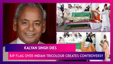 Kalyan Singh Dies, BJP Flag Over Indian Tricolour Creates Controversy At Former UP CM's Prayer Meet