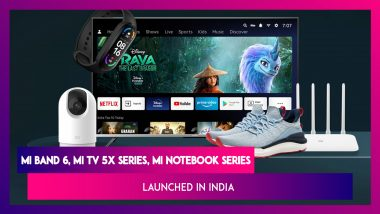 Mi TV 5X Series, Mi Notebook Series, Mi Band 6, Mi 360 Home Security Camera & More Launched in India; Prices Features & Specifications