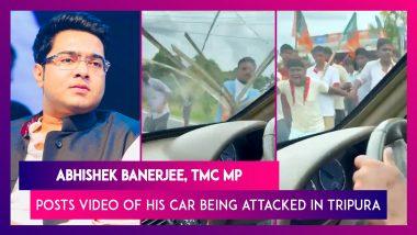 Abhishek Banerjee, TMC MP & Mamata Banerjee's Nephew Tweets Video Of His Car Being Attacked In Tripura, Blames Chief Minister Biplab Deb