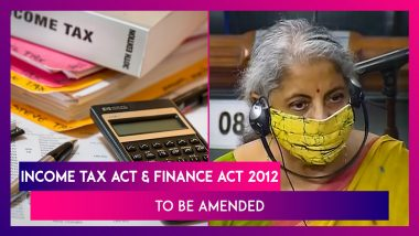 Income Tax Act & Finance Act 2012 To Be Amended To Remove Retrospective Tax Demands Prior To May 28, 2012