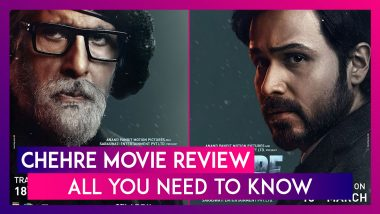Chehre Movie Review: Amitabh Bachchan & Emraan Hashmi's Acts Save This Rumy Jafry Preachy Directorial; All You Need To Know