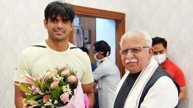 Haryana CM Manohar Lal Khattar Asks Neeraj Chopra to Head Centre of Excellence to Groom Athletes for Olympics