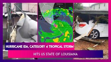 Hurricane Ida, Category 4 Tropical Storm Hits US State Of Louisiana, Day After Hurricane Katrina Anniversary