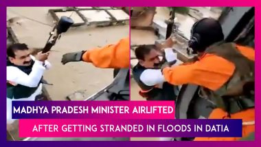 Narottam Mishra, Madhya Pradesh Minister, Airlifted After Getting Stranded In Floods In Datia