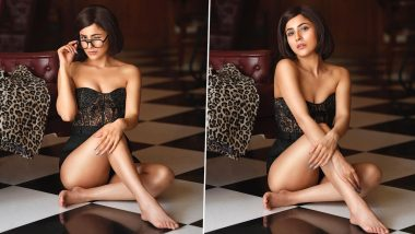 Shehnaaz Gill Makes Glasses Look Sexy in a Hot Black Outfit, As She Poses for Ace Photographer Dabboo Ratnani! (View Pics)