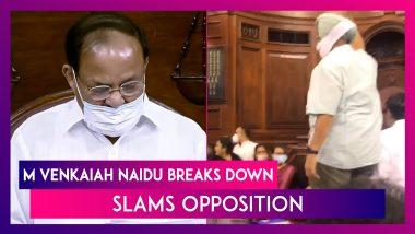 Om Birla, M Venkaiah Naidu On Monsoon Session Of Parliament: Naidu Breaks Down, Slams Opposition For The Chaos