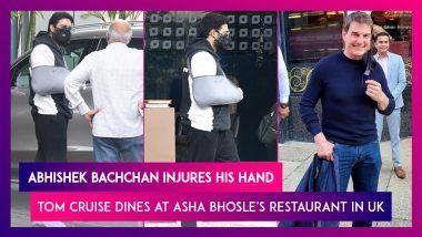 Abhishek Bachchan Injures His Hand, Amitabh Bachchan & Shweta Bachchan Nanda Visit Hospital; Tom Cruise Dines At Asha Bhosle's Restaurant In UK