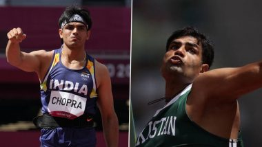 Neeraj Chopra and Arshad Nadeem to Reignite India vs Pakistan Rivalry in Men's Javelin Throw Final Event at Tokyo Olympic Games 2020