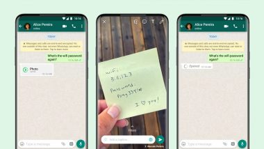WhatsApp Rolls Out 'View Once' Feature That Deletes Photos & Videos From Chat After Seen Once