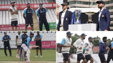 Team India Players Gear Up for 1st Test Against England (Watch Video)