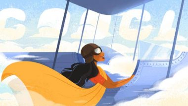 Sarla Thukral 107th Birth Anniversary Google Doodle: Search Giant Honours The First Woman Pilot Of India With High-Flying Doodle