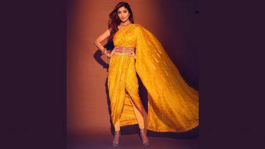 Shilpa Shetty Kundra's Dhoti-Style Yellow Saree Can Be An Apt Choice For Janmashtami 2021 Celebrations (View Pics)