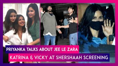 Priyanka Chopra Talks About Jee Le Zara; Katrina Kaif & Vicky Kaushal At Shershaah Screening