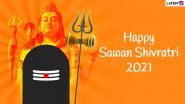 Sawan Shivratri 2021 Greetings & HD Images: Celebrate The Auspicious Occasion by Sharing These Lord Shiva Photos, GIF, WhatsApp Stickers And Facebook Messages