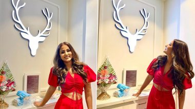 Hina Khan Looks Effortlessly Chic in Red Hot Co-Ord Set; View Latest Instagram Post