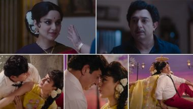Thalaivi Song Teri Aankhon Mein: Kangana Ranaut and Arvind Swamy Relive Jayalalithaa and MGR's Ageless Chemistry (Watch Video)