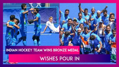 India Wins Bronze Medal In Men's Hockey At Tokyo Olympics 2020, Wishes Pour In
