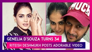 Genelia D'Souza Turns 34, Riteish Deshmukh Posts Adorable Video, Says, 'You Are Looking Younger By The Day'