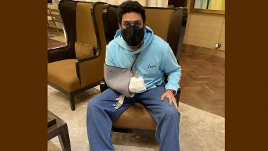 Abhishek Bachchan Shares Picture With an Arm Sling, Confirms Undergoing Surgery After a 'Freak' Accident