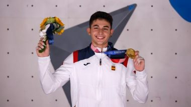 Tokyo Olympics 2020: Spain's Alberto Gines Lopez Wins First Olympic Gold Medal in Sport Climbing