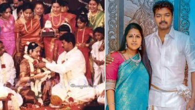 Thalapathy Vijay and Sangeetha's 22nd Wedding Anniversary; Fans Shower the Couple With Love on Their Special Day With Throwback Pics!