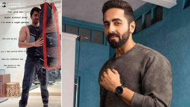 Ayushmann Khurrana Feels Guilty About Being a 'Night Person', Shares Night Workout Picture!