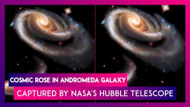 Cosmic Rose In Andromeda Galaxy Captured By NASA's Hubble Telescope