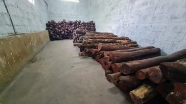 India News | 2 Held, Red Sandalwood Worth Rs 4.5 Cr Seized by Bengaluru Central Crime Branch