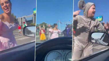 Camila Cabello, Billy Porter, James Corden, Idina Menzel Stop LA Traffic for a Flash Mob To Promote Cinderella Movie (Watch Video)