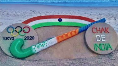 Chak De India Sand Art is Lit! India Men's Hockey Team Beat Germany 5-4 to Bag Bronze Medal at Tokyo Olympics 2021 (Watch Video)