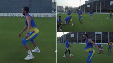 IPL 2021 Diaries: CSK Players Warm Up and Celebrate After the Training Session, Deepak Chahar Jokes Around the Field