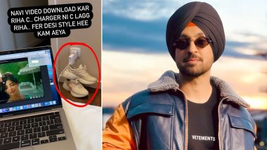 Diljit Dosanjh's Desi Jugad With Gucci Shoes for Solving Charger Issue Is Epic!