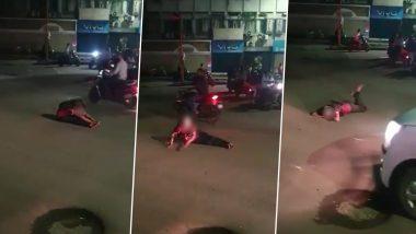Pune: 'Drunk' Woman Blocks Traffic, Creates Ruckus on Tilak Road in Swargate Area; Video Goes Viral